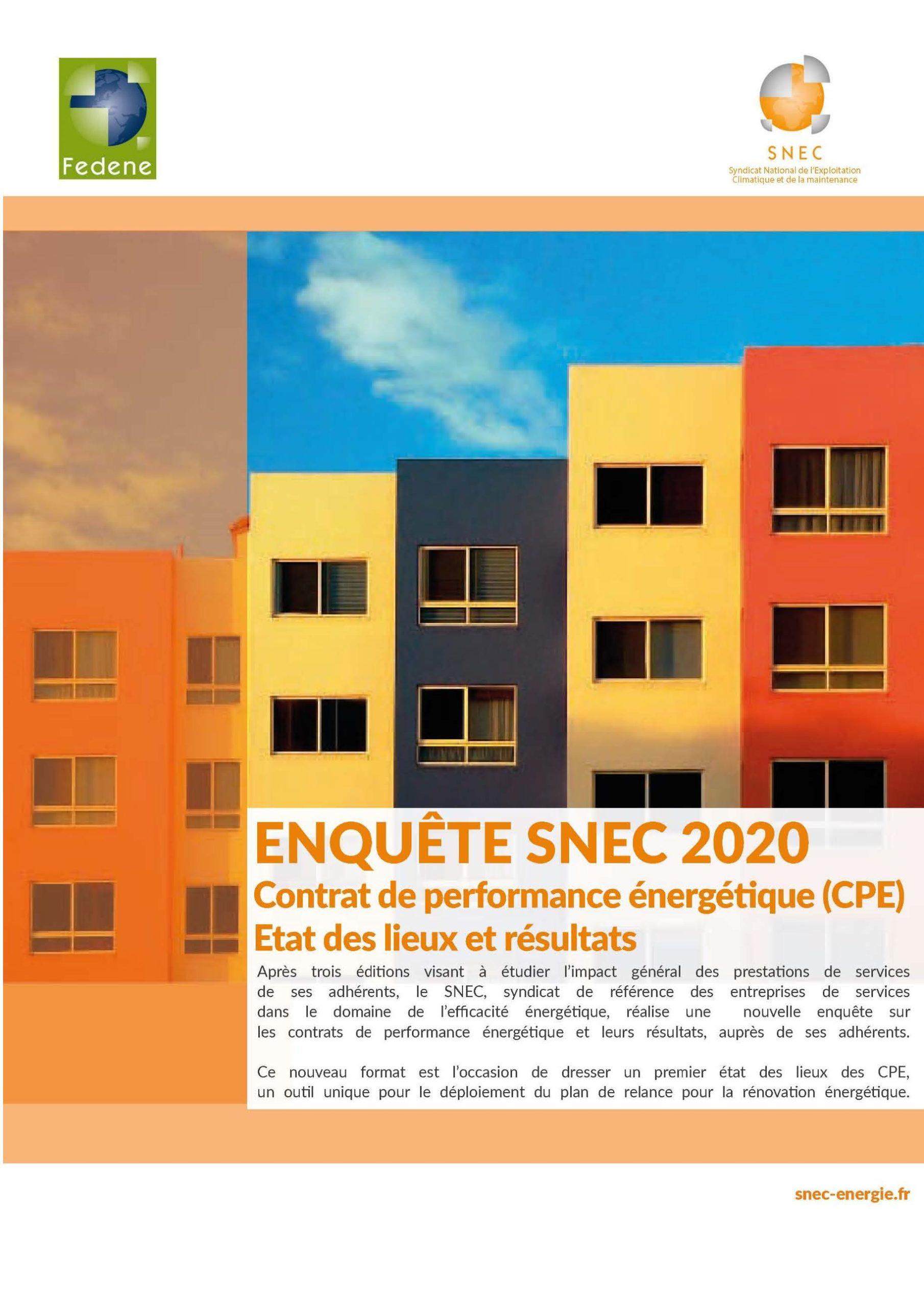Résultats De L'enquête SNEC 2020